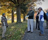 Jenn Grieser, Cleveland Metroparks, leads tour at Acacia Reservation in Lyndhurst