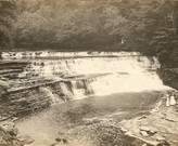 The Great Falls in 1900 now hidden behind the Gorge Dam.  Photo Credit: SCHS Pockrandt.