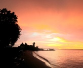 Lake Erie sunset at Whiskey Island, Cleveland, OH.