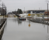 Flooding along Abram Creek, February 28, 2011.