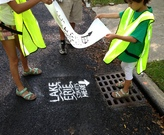 Storm drain stenciling activity