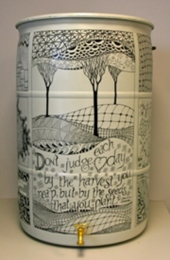 Inspired.  Launie McDevitt & Lisa Ruschman, 2012 Rain Barrel Art Contestant.