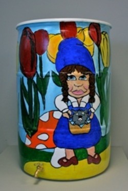 There is no place like Gnome.  Progressive Team, 2012 Rain Barrel Art Contestant.