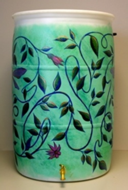 Water Dragon.  Susan Begin, 2012 Rain Barrel Art Contestant.