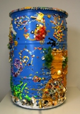 We Deliver Sunshine.  Stephen Greenberg etal, 2012 Rain Barrel Art Contestant.