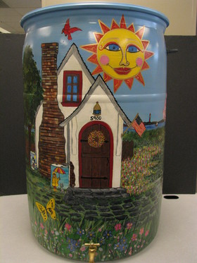 Peace at Home.  Sharon Slylar Cataldo, 2010 Rain Barrel Art contestant