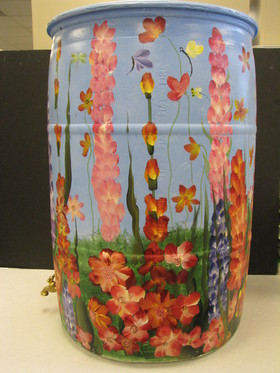 Flora.  Susan Thorpe, 2010 Rain Barrel Art contestant